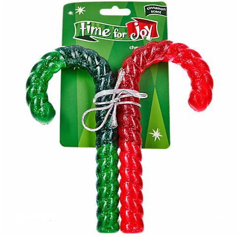 Rubber Candy Cane Dog Treats