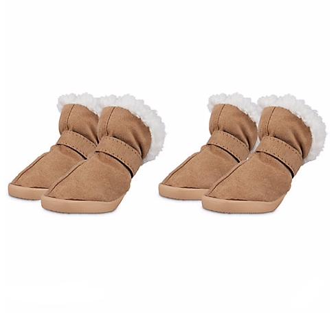 Brown and White Good2Go Tan Dog Boots